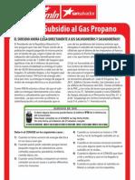 ACLARANDO SUBSIDIO AL GAS