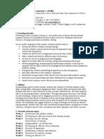 AW4002 Syllabus Outline 2010-11
