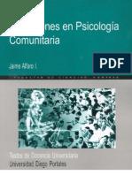 Discusiones en Psicología Comunitaria, Jaime Alfaro
