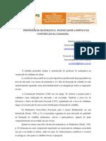 PROFESSOR DE MATEMÁTICA UM EDUCADOR A SERVIÇO DA CONSTRUÇÂO DA CIDADANIA