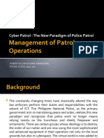Management of Patrol Operations