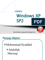 installasi Windows XP SP2