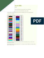 Código de cores no VBA