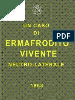 Un Caso Di Ermafrodito Vivente - Pietro Collenza
