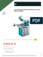 Berg & Schmid Gehrungsbandsäge GBS 185 Eco AC 30-80 M_min, 230 v Stufenlos 2,5 KW, SB 2.085 Mm, 20332 Günstig Kaufen _ PROFISHOP