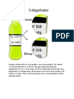Example showing effect of vector graphics versus raster graphics