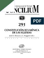 Constitución Ecuménica de Las Iglesias, Varios Autores. Concilium, 2001