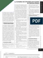 Aspectos Tributarios y Contables de la Provisión para Cuentas de Cobranza Dudosa