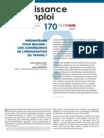 170_Presenteisme pour maladie une consequence de l organisation du travail