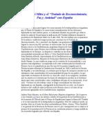 Bartolomé Mitre y el acuerdo de reconocimiento español