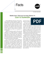 Hubble Facts Hubble Space Telescope Servicing Mission 3A Cost to Taxpayers