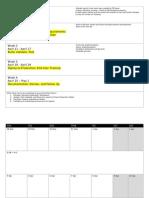 Timeline for Report Completion April 2011