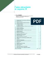 p1075 Résolution d'une structure cristalline par rayons X