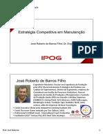 Estratégia Competitiva Em Manutenção JR Slides Alunos