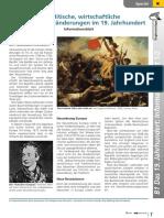 Politische, wirtschaftliche und soziale Veränderungen im 19. Jahrhundert
