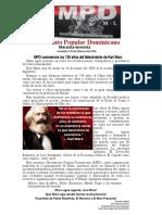 MPD conmemora los 138 años del fallecimiento de Karl Marx - copia