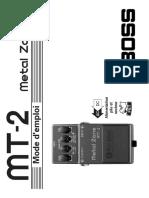 Boss Metal Zone Mt 2 Mode d Emploi Fr 44101