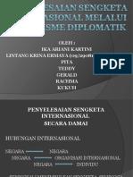 Sengketa Internasional Melalui Mekanisme Diplomatik