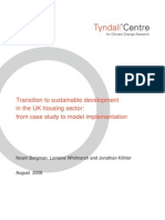 Transition to sustainable development in the UK housing sector