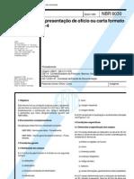 NBR 06030 - 1980 - apresentação de ofício ou carta formato a4