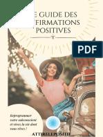 Le guide des affirmations positives