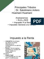 14. Principales Tributos.