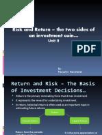Risk and return_unit2