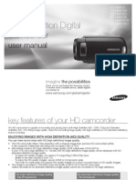 Samsung Camcorder HMX10 English User Manual