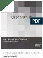 Samsung Camcorder HMX-E10N English User Manual