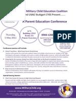 Parent Education Conference Flyer Master for Stuttgart