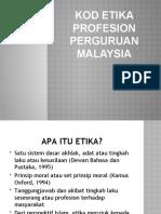 KOD ETIKA PROFESION PERGURUAN MALAYSIA