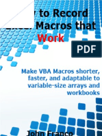 Record Excel Macros that Work