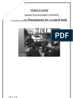 Front Office Management for a Typical Bank