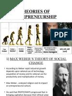 Theories of Entrpreneurship