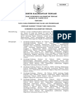 Pergub Kalteng No. 26 Th 2015 ttg Tata Cara Pemungutan Pajak Air Permukaan