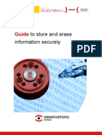 Guide to store and erase information securely