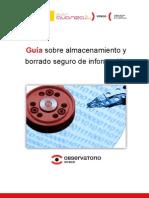 Guía sobre almacenamiento y borrado seguro de información