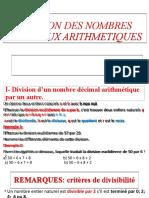 Division Des Nombres Decimaux Arithmetiques