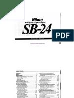 Nikon sb24 user manual