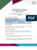 Guia de actividades y Rúbrica de evaluación - Tarea 5 - Infografía