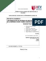GESTION DE LA CALIDAD ( EMPRESA COSAPI)