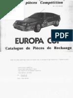 pieces rechange Europa Cup