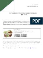Rechemare Inghetata Cioco Bio 900ml Carrefour 01.10.2021