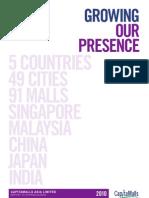 CapitaMalls Asia Annual Report 2010