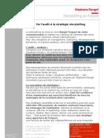 L'audit et le conseil en storytelling