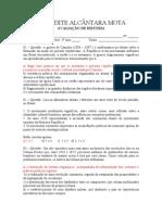 AVALIAÇÃO DE HISTÓRIA  -  3º ANO