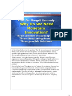 Margrit Kennedy - Why Do We Need Monetary Innovation