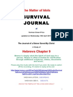 SURVIVAL JOURNAL Hebrews Chapter 9 the Matter of Idols 13.4