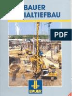 BAUER Spezialtiefbau Brochure - English