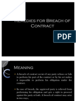 11. Remediies for Breach of Contract